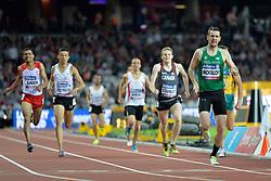 16/07/2017 : Michael McKillop (IRL), Liam Stanley (CAN), Jose Pizo Rincon (COL), Abbes Saidi (TUN), Men's 800m, T38, Final, at the 2017 World Para Athletics Championships, Olympic Stadium, London, United Kingdom