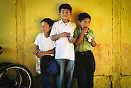 School boys near Antigua, Guatemala