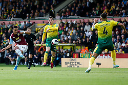 Anwar El Ghazi of Aston Villa shoots at goal - Mandatory by-line: Phil Chaplin/JMP - 05/10/2019 - FOOTBALL - Carrow Road - Norwich, England - Norwich City v Aston Villa - Premier League
