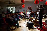 Chris Wabich during a performance at Hoson House on Sunday, December 4, 2016 in Tustin, California.
