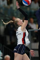 20190112 NED: Sliedrecht Sport - VC Sneek: Sliedrecht<br />Christie Wolt (1) of Sliedrecht Sport <br />©2019-FotoHoogendoorn.nl / Pim Waslander
