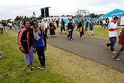 UK, August 1 2012: Dorcus and Lorna pose at the London 2012 Rowing venue at Eton Dorney.  Copyright 2012 Peter Horrell.