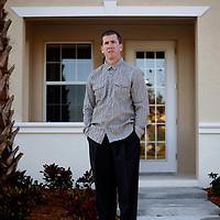 SARASOTA, FL -- December 29, 2010 -- Former N.B.A. referee Tim Donaghy poses for a portrait outside his townhouse in Sarasota, Fla., on Wednesday, December 29, 2010.  Donaghy went to prison for betting illegally on games - some of which he officiated.
