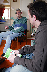 Tenancy Support Worker talking with resident,