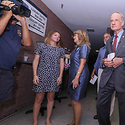 United States Senator Tom Carper and his staff as well as supporters gathered to watch the election results roll in Thursday, Sept. 06, 2018, at Frawley Stadium in Wilmington, Delaware.