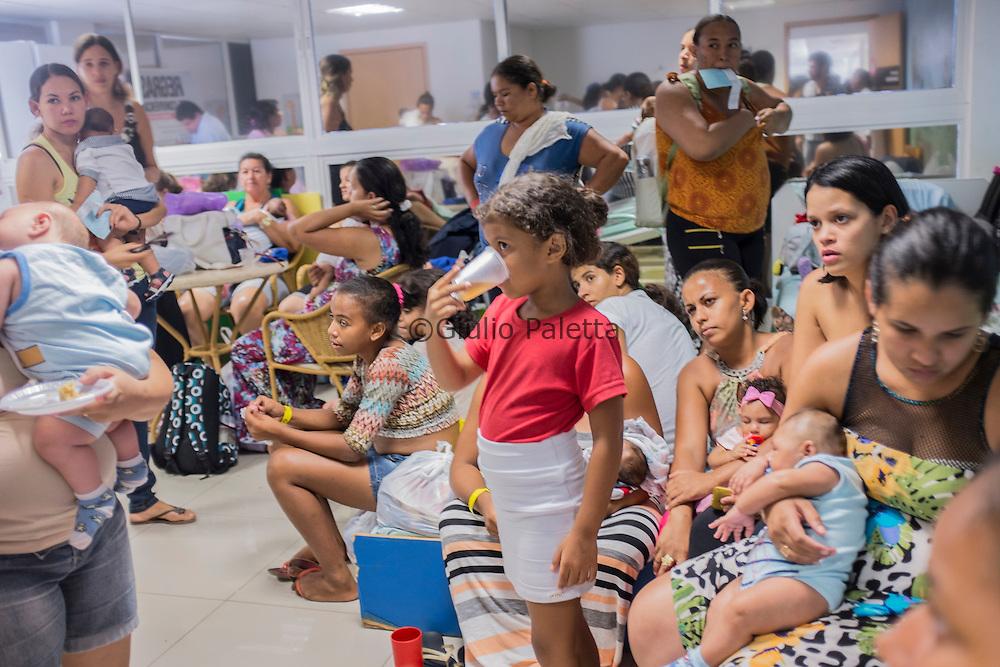 A group of mothers at the rehabilitation center FAV (Fundação Atilio Valente) in Recife, Pernambuco