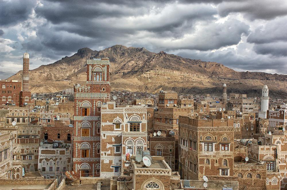 Old City, Sana'a, North Yemen, Yemen, Arabian Peninsula