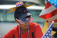 Cameron Barranco rides in the 4th of July parade in Oxford, Miss. on Wednesday, July 4, 2012.