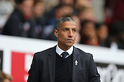 Chris Hughton during the Sky Bet Championship match between Bolton Wanderers and Brighton and Hove Albion at the Macron Stadium, Bolton, England on 26 September 2015.