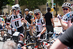 Julia Soek and Coryn Rivera celebrate the victory at Amgen Breakaway from Heart Disease Women's Race empowered with SRAM (Tour of California) - Stage 3. A 118km road race from Elk Grove to Sacramento, USA on 13th May 2017.