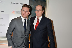Left to right, NICK CANDY and H.S.H.PRINCE ALBERT II OF MONACO at the Fortune Forum Club dinner in the presence of HSH Prince Albert II of Monaco held at The Dorchester, Park Lane, London on 15th January 2014.