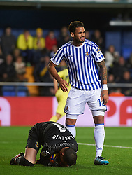 January 27, 2018 - Vila-Real, Castellon, Spain - Sergio Asenjo of Villarreal CF and Willian Jose of Real Sociedad during the La Liga match between Villarreal CF and Levante Union Deportiva, at Estadio de la Ceramica, on January 26, 2018 in Vila-real, Spain  (Credit Image: © Maria Jose Segovia/NurPhoto via ZUMA Press)