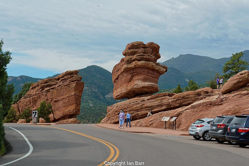 Balanced Rock, Garden of the Gods,Colorado Springs,