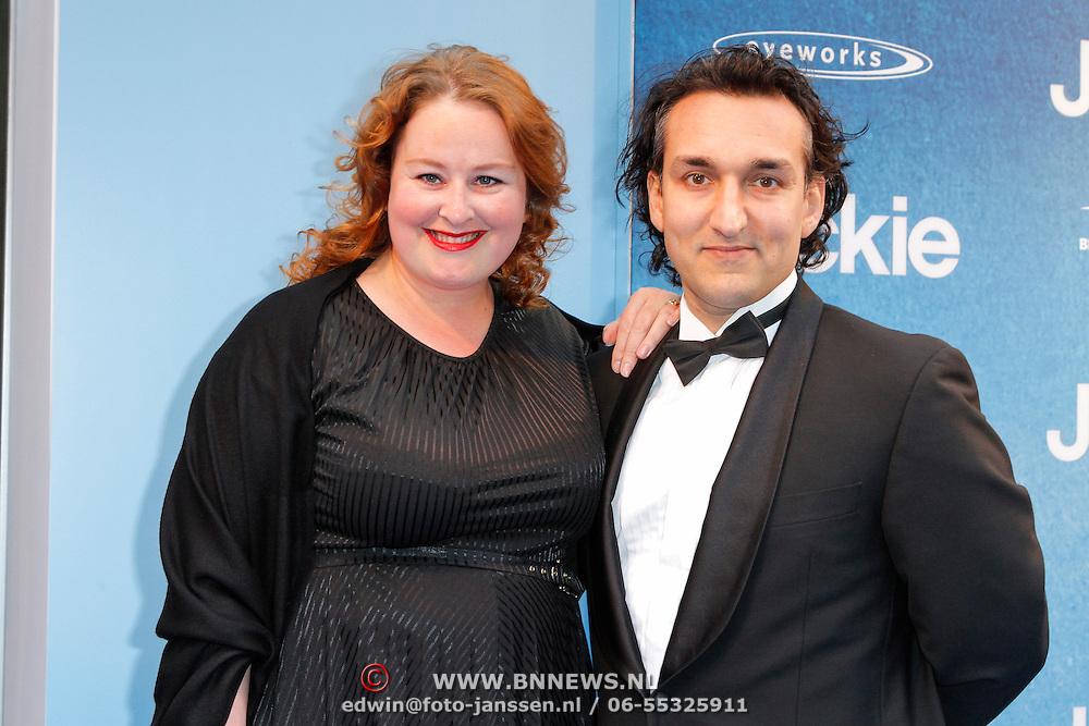NLD/Amsterdam/20120507 - Premiere Jackie, Eva van der Gucht en partner Domenica Mertens