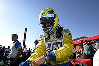 Vitor Meira at the California Speedway, Toyota Indy 400, October 16, 2005