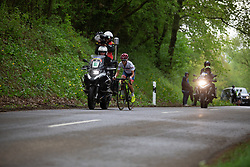 Ashleigh Moolman-Pasio of Cervelo Bigla climbs at the front in the fourth short loop on Stage 2 of the Festival Elsy Jacobs - a 111.1 km road race, starting and finishing in Garnich on April 29, 2018, in Luxembourg. (Photo by Balint Hamvas/Velofocus.com)