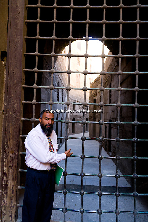 Egypt. Cairo - Mosque SULTAN HASSAN islamic Cairo  +