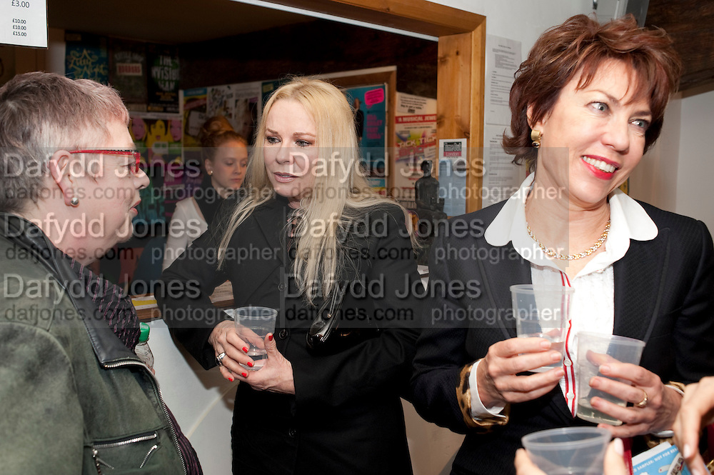 JO BRAND;  PAMELA STEPHENSON; KATHY LETTE , Gala performance of  RUBY WAX- LOSING IT  in aid of  Comic Relief. Menier Theatre. London. 23 February 2011. -DO NOT ARCHIVE-© Copyright Photograph by Dafydd Jones. 248 Clapham Rd. London SW9 0PZ. Tel 0207 820 0771. www.dafjones.com.