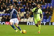 Birmingham City midfielder Stephen Gleeson and Huddersfield Town midfielder Sean Scannell during the Sky Bet Championship match between Birmingham City and Huddersfield Town at St Andrews, Birmingham, England on 5 December 2015. Photo by Alan Franklin.