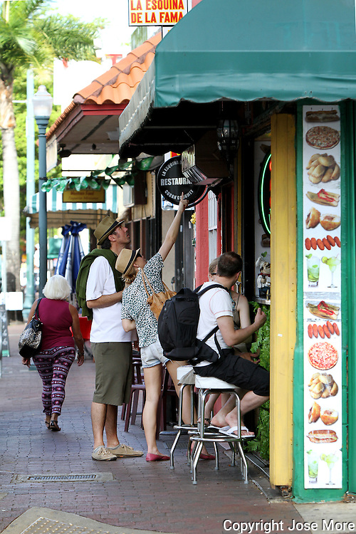 Little Havana also known as La Calle Ocho is home to many Cuban immigrant residents, as well as many residents from Central and South America. Tour busses take tourist to Miami&rsquo;s South West 8 Street or Calle Ocho the home to many Cuban restaurants, bars and cigar shops.<br /> Photography by Jose More