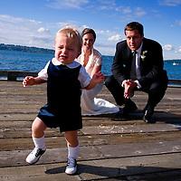 Lake Washington portrait session for a Seattle wedding.