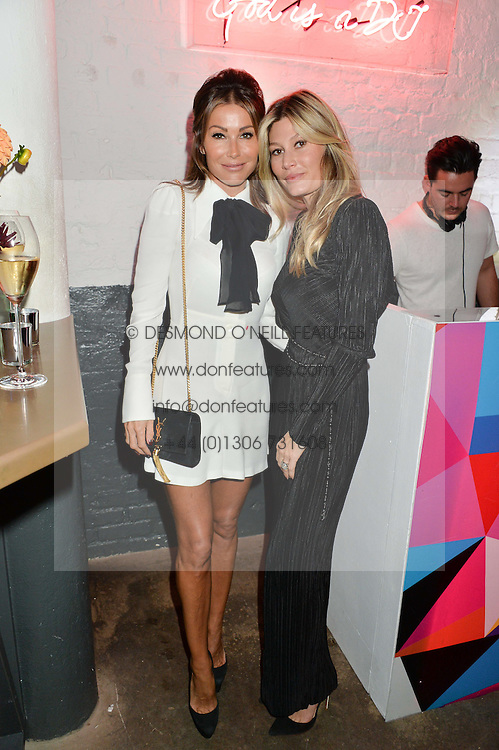 Left to right, JAYNE BLIGHT and STEPHANIE PURCELL at Light Up Your Life - a party hosted by Lillingston held at Lights of Soho, 35 Brewer Street, London on 1st October 2015.