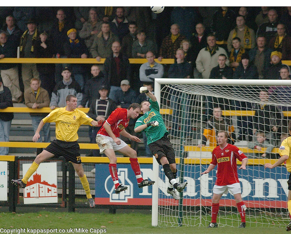 STAND IN KETTERING TOWN GOALKEEPER NICK BUSSEY, Southport v Kettering Town Conference Saturday 28th October 2006