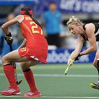 DEN HAAG - Rabobank Hockey World Cup<br /> 36 New Zealand - China<br /> Foto: Anita Punt (black).<br /> COPYRIGHT FRANK UIJLENBROEK FFU PRESS AGENCY