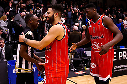 Lewis Champion of Bristol Flyers and Daniel Edozie of Bristol Flyers - Photo mandatory by-line: Robbie Stephenson/JMP - 01/03/2019 - BASKETBALL - Eagles Community Arena - Newcastle upon Tyne, England - Newcastle Eagles v Bristol Flyers - British Basketball League Championship