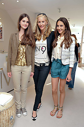 LISA BUTCHER and her daughters Left, OLIVIA DONOSO and right AMBER DONOSO at the opening of the new Melissa Odabash store in Walton Street, London SW3 on 7th July 2011.