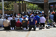 Israel, Nazareth A large group of Muslims at prayer