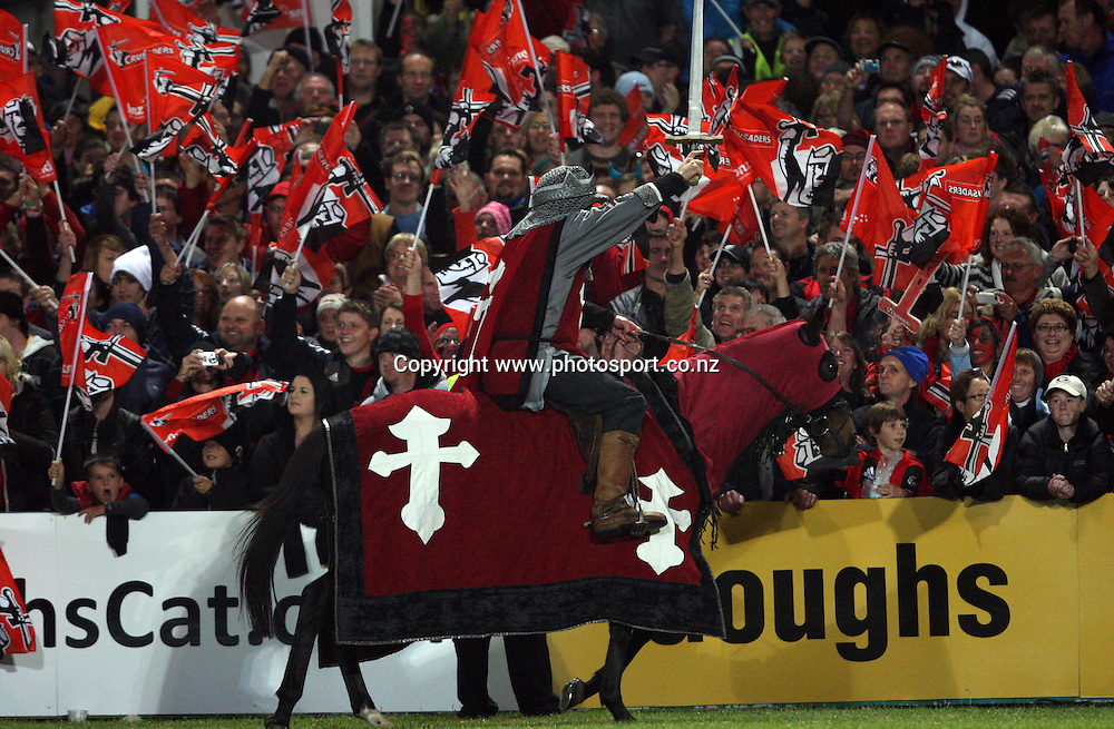 Crusaders supporters.<br /> Investec Super Rugby - Crusaders v Bulls, 9 April 2011, Alpine Energy Stadium, Timaru, New Zealand.<br /> Photo: Rob Jefferies / www.photosport.co.nz