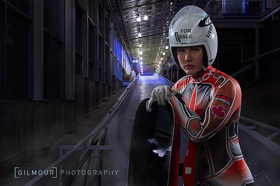 Alex Gough - Luge Canada, 2014 Canadian Olympic Luge Team photographed by Calgary commercial photographer Brett Gilmour.