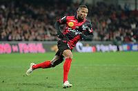 JOIE GUINGAMP  / Claudio BEAUVUE  - 24.01.2015 - Guingamp / Lorient - 22eme journee de Ligue1<br />Photo : Vincent Michel / Icon Sport *** Local Caption ***