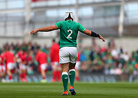 Rugby Union - 2019 pre-Rugby World Cup warm-up (Guinness Summer Series) - Ireland vs. Wales<br /> <br /> Rory Best (c) (Ireland) stretches out before kick off at The Aviva Stadium.<br /> <br /> COLORSPORT/KEN SUTTON