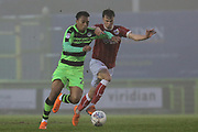 Forest Green Rovers Tahvon Campbell(25) runs forward during the Gloucestershire Senior Cup match between Forest Green Rovers and U23 Bristol City at the New Lawn, Forest Green, United Kingdom on 9 April 2018. Picture by Shane Healey.