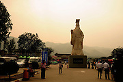 China, Xian Shaanxi, statue of Emperor Qin Shihuangdis near his Tomb .