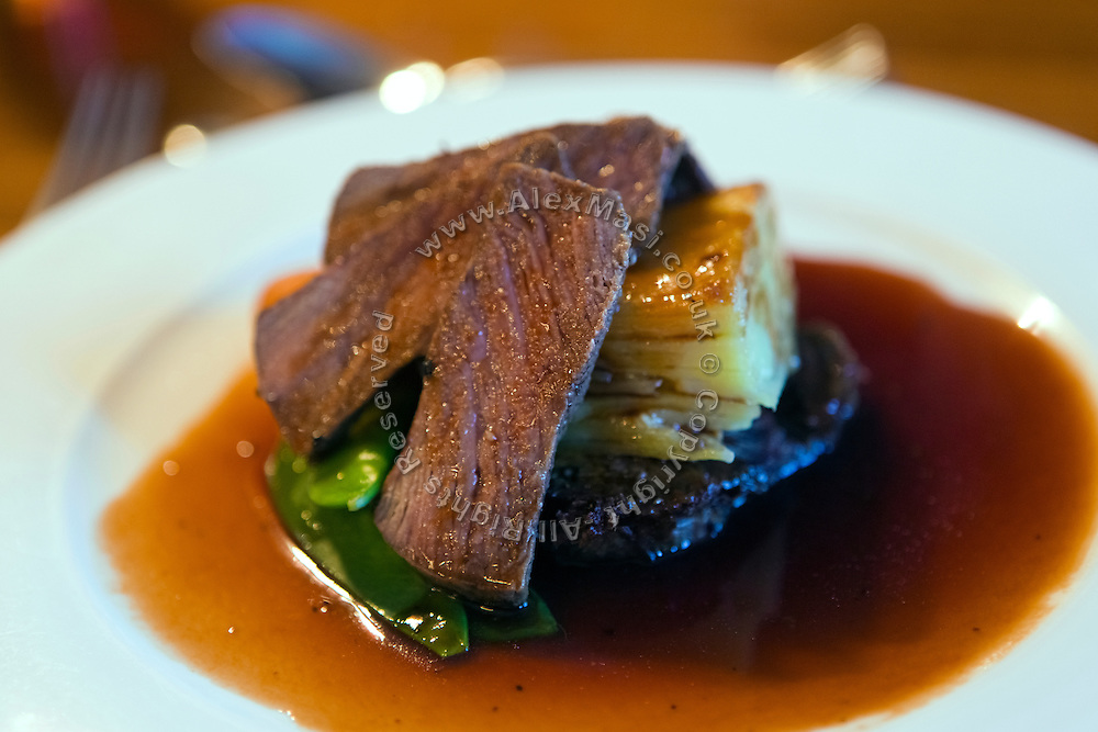Deer and potatoes are served at The Burythorpe Country House's restaurant.