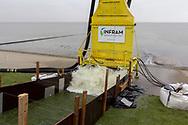 Golfoploopproef Waddenzeedijk bij Sexbierum