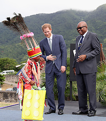 Prince Harry makes at a youth rally at Brimstone Hill Fortress after arriving on the island of St Kitts for the second leg of his Caribbean tour.