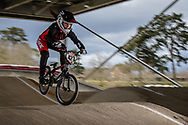 #423 (MOROT Charlotte) FRA at the 2018 UCI BMX Superscross World Cup in Saint-Quentin-En-Yvelines, France.