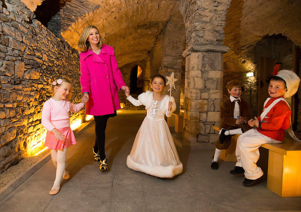 4/11/2012. Repro Free. News. Pictured launching 'Winterval' in Waterford city at Chorister's Hall is Ireland AM's Anna Daly with Ballerina, Ava Ryan (4), Christmas Fairy, India Lilly Muller (6), Christmas Prince Charming, Robert Jephson (6) and Toy Soldier, Danny McGrath (6) – Ireland's biggest Christmas Festival takes place in the medieval city from November 30 with details of the festival available on winterval.ie. Picture: Patrick Browne.<br /> <br /> Sunday, November 4, 2012.<br />  <br /> 500,000 Visitors to Descend on Waterford for 'Winterval'<br />  <br /> 500,000 visitors are expected to visit the city of Waterford later this month as details the inaugural festive festival 'Winterval' have been unveiled by Ireland AM's Anna Daly in the city today (Sunday, November 4).<br />  <br /> The twenty-three day festival 'Winterval' is the very first of its kind for Ireland's oldest city and will host a variety of traditional family fun activities from November 30.<br />  <br /> The brand new Winterval Festival offers a jam packed schedule of fun filled activities featuring many 'firsts' for Ireland including the free 'Sol Luminiere Lightshow' a spectacular 3D sound and light show designed especially for Winterval, will light up the Deanery in Cathedral Square each evening during the festival.<br />  <br /> For toy lovers young and not so young a free entry 'Toy Museum' featuring some first production toys from the 1950's will be a wonderful trip down memory lane, the museum is curated by Hasbro and they will be featuring some 'collector item' toys brought to Ireland especially for the festival. For festivalgoers wishing to get 'crafty' the Crafts Council of Ireland will host series of Craft workshops exploring new techniques in Clay, Textiles, Jewellery and Paper Craft.<br />  <br /> A uniquely Irish take on Christmas see's the Waterford Vikings Fado set up camp at Greyfriars Chruch where they will demonstrate the traditions of a Viking Christmas and celebrating the polish culture a 'Traditional Polish