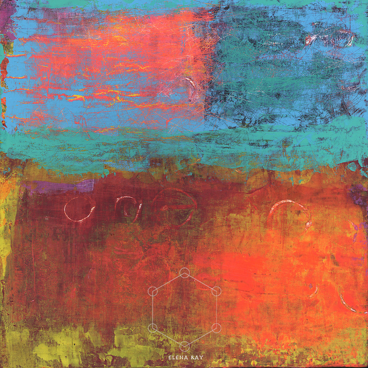 Vivid colorful abstract art blocks.