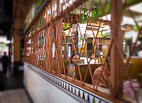 SAN JOSE, COSTA RICA - CIRCA AUGUST 2012: Restaurant in the Central Market circa 2012 in San Jose, a very popular attraction and the biggest market in the city  with more than 10.000 daily visitors.