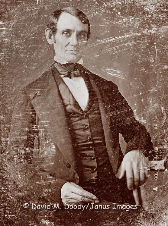 Abraham Lincoln, three-quarter length portrait,  1846 or 1847.
