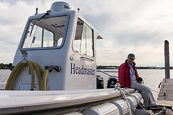 Launch of the new Pumpout Boat 'Headmaster' at the Portland Boat Yard