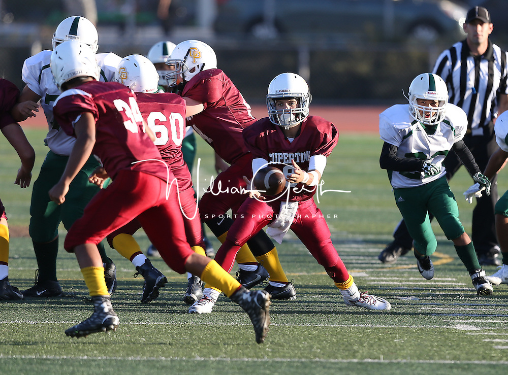 (Photograph by Bill Gerth for Max Preps) James Lick vs Cupertino in a preseason jv football game at Cupertino High School, Cupertino CA on 9/2/16.