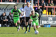 Forest Green's Marcus Kelly on the ball during the Vanarama National League match between Bromley FC and Forest Green Rovers at Hayes Lane, Bromley, United Kingdom on 28 March 2016. Photo by Shane Healey.