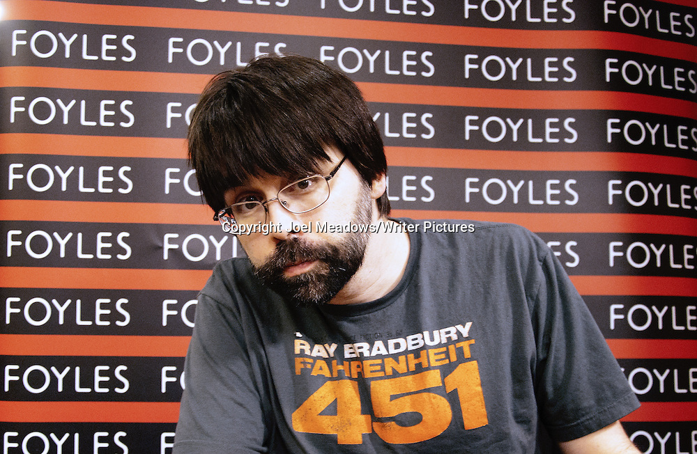 Writer Joe Hill, (NOS42, Heart Shaped Box) at Foyles in London. 28th May 2014<br /> <br /> Copyright Joel Meadows/Writer Pictures
