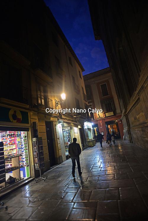 Street at night in Granada